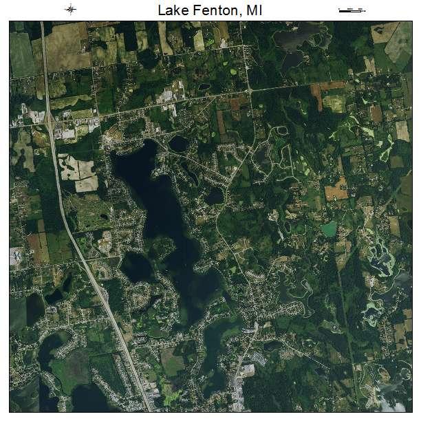 Lake Fenton, MI air photo map