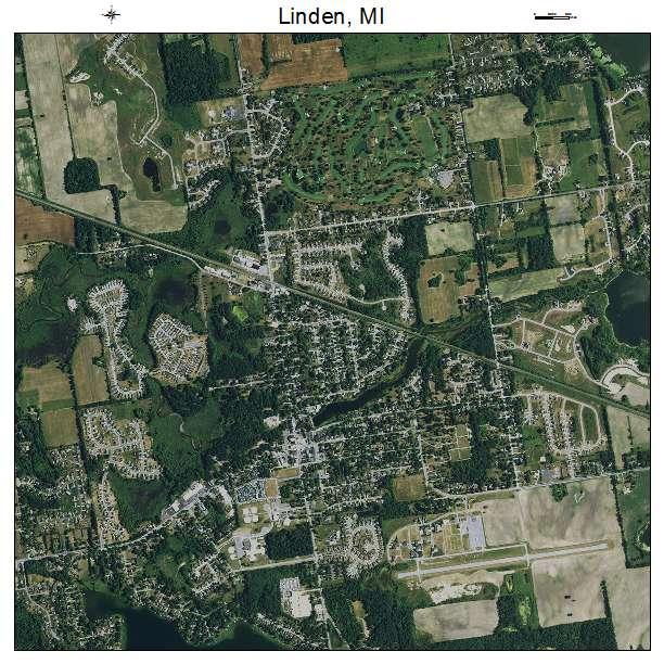 Linden Mi Michigan Aerial Photography Map 2014