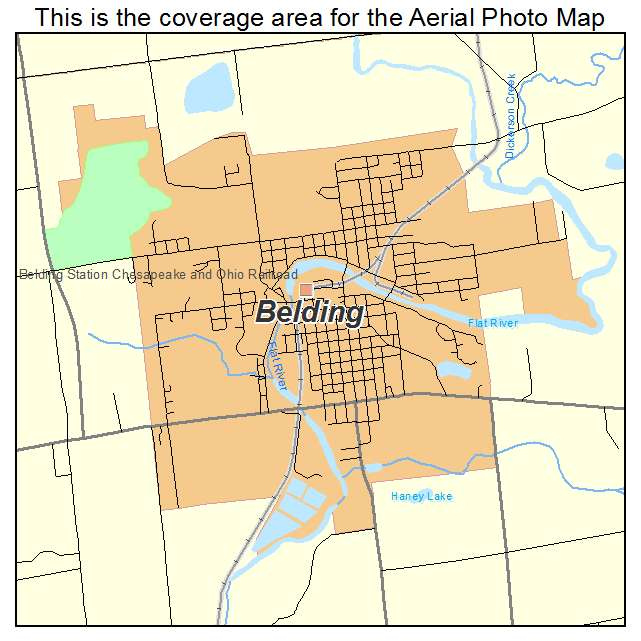 Aerial Photography Map of Belding, MI Michigan