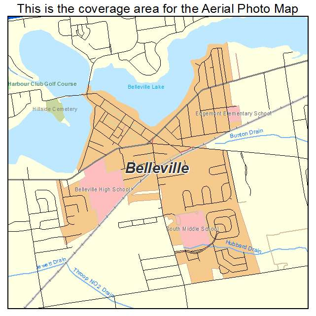 Aerial Photography Map Of Belleville MI Michigan