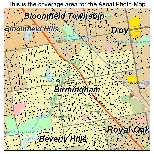 Birmingham Michigan Map