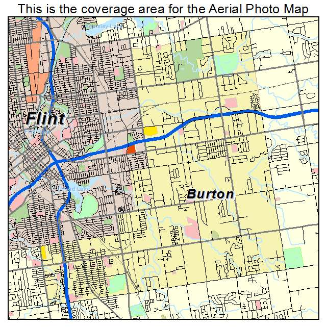 Aerial Photography Map of Burton, MI Michigan