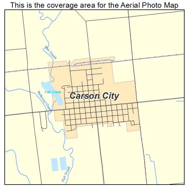 Aerial Photography Map Of Carson City Mi Michigan