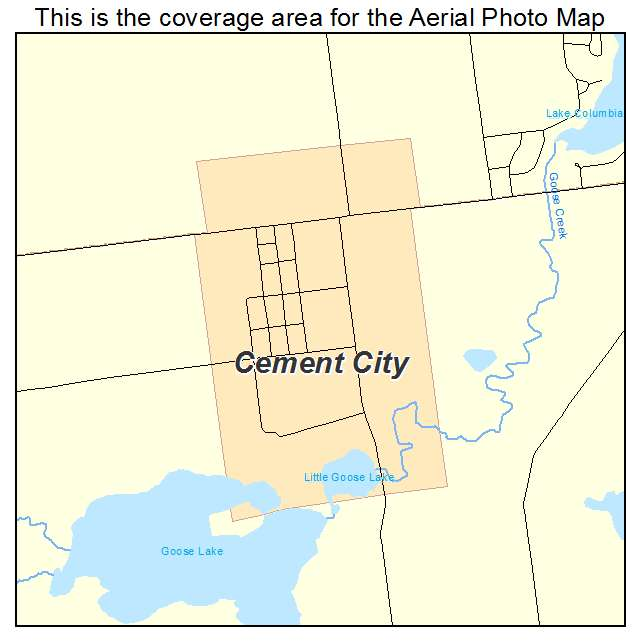 Cement City Michigan Cement Plant : Aerial photography map of cement city mi michigan