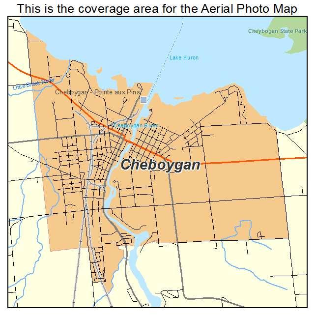 Cheboygan Michigan Map