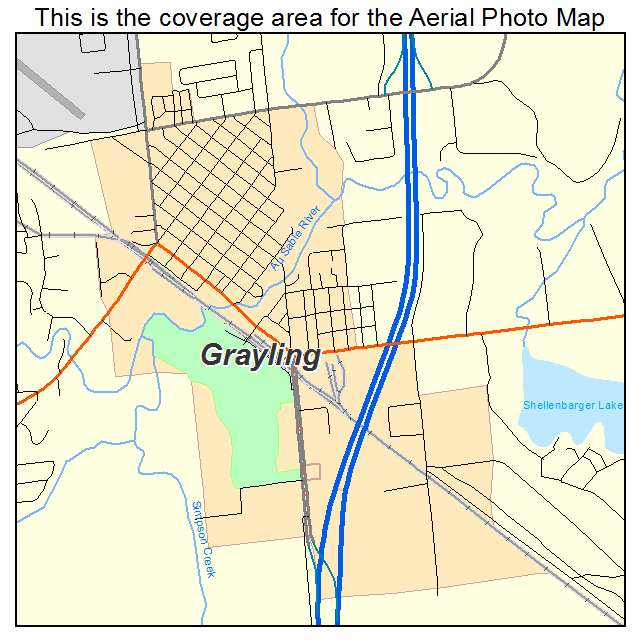 Grayling, MI location map