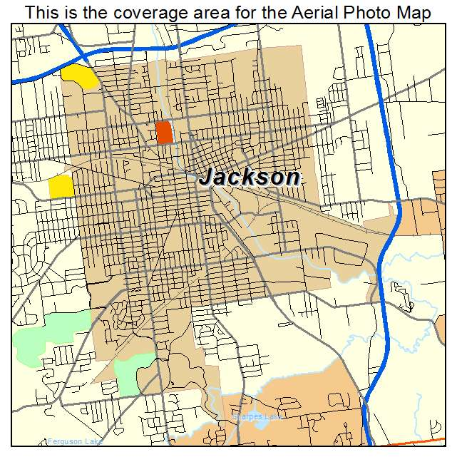 Jackson Michigan Map