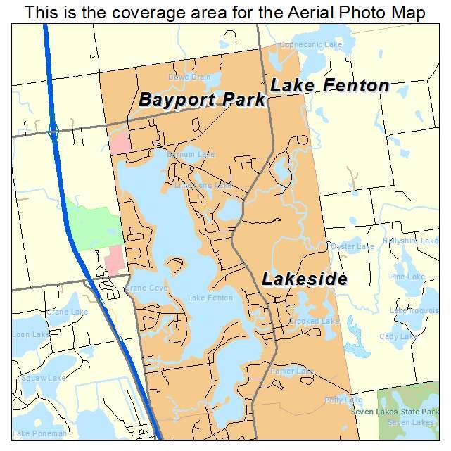 Lake Fenton, MI location map