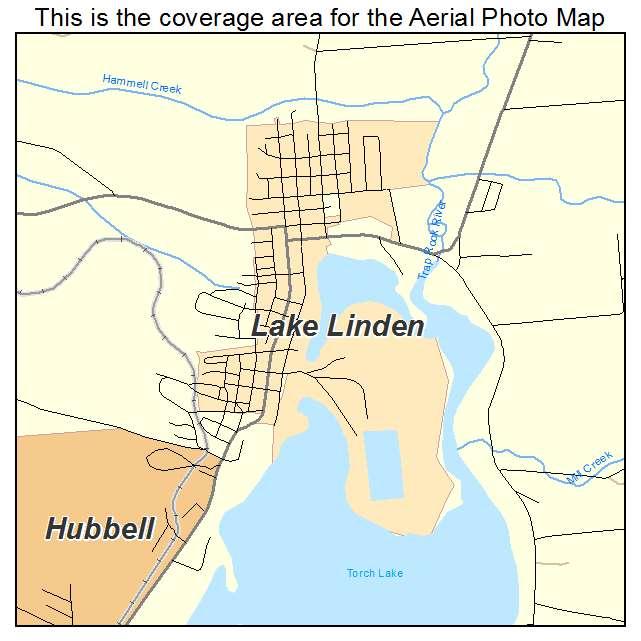 Lake Linden Mi Michigan Aerial Photography Map 2014