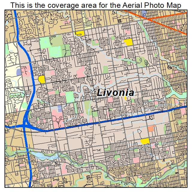 Zip Code Areas in Livonia mi Livonia Michigan Zip Code