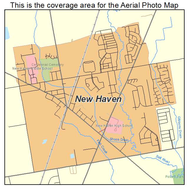 aerial photography map of new haven mi michigan. Black Bedroom Furniture Sets. Home Design Ideas