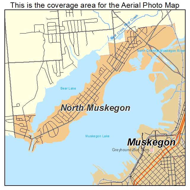 Aerial Photography Map Of North Muskegon Mi Michigan