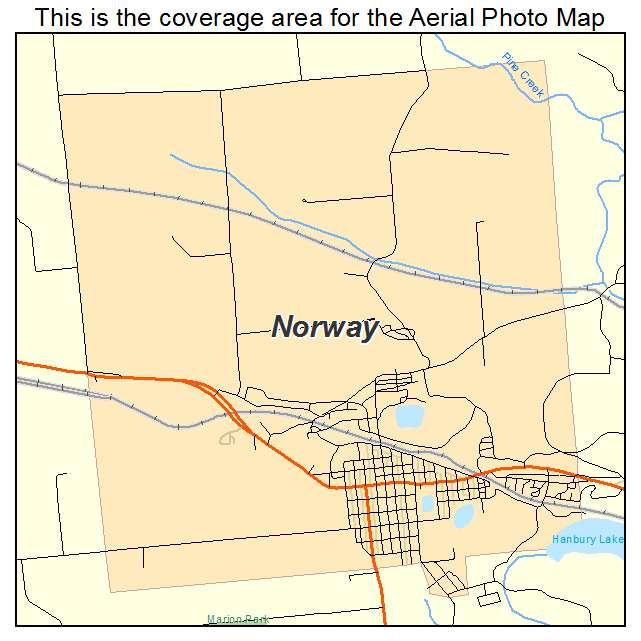 Aerial Photography Map Of Norway MI Michigan - Norway mi map