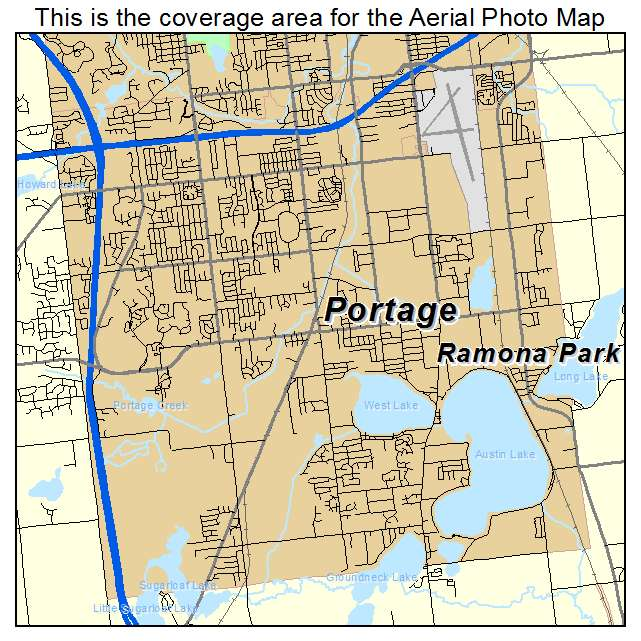 Portage Michigan Map
