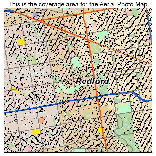 Redford Mi Michigan Aerial Photography Map 2014
