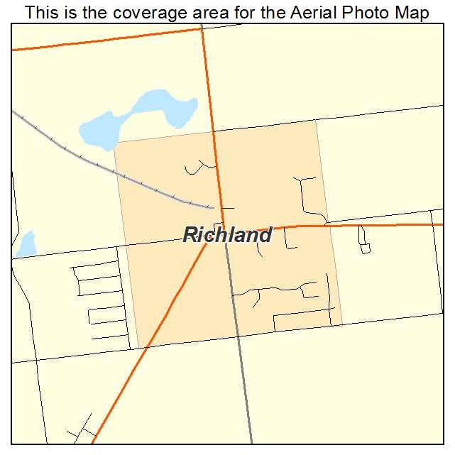 Aerial Photography Map Of Richland Mi Michigan