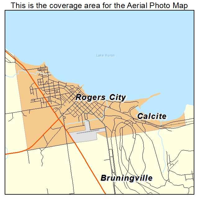 Rogers City, MI location map