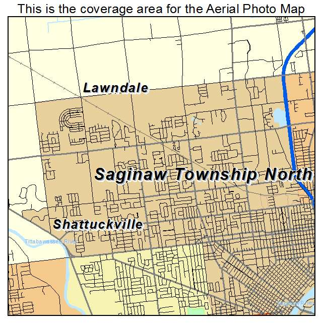 Aerial Photography Map Of Saginaw Township North MI Michigan