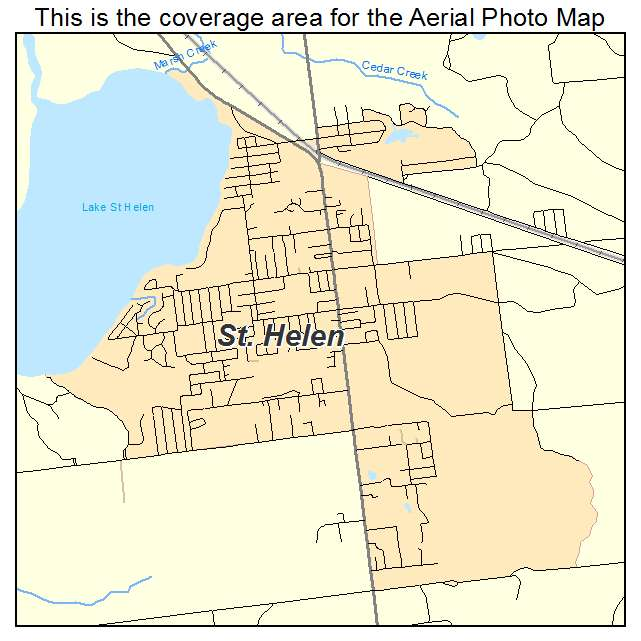 Aerial Photography Map Of St Helen Mi Michigan