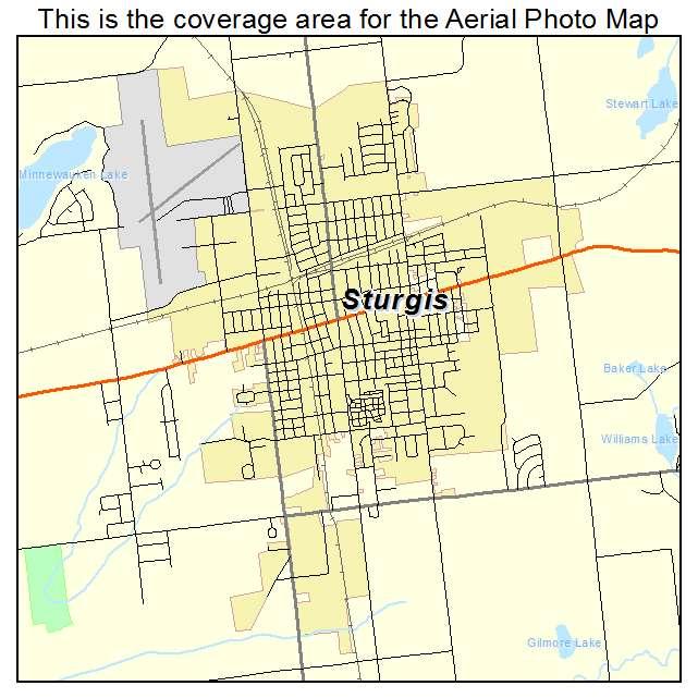 Sturgis Mi Michigan Aerial Photography Map 2014