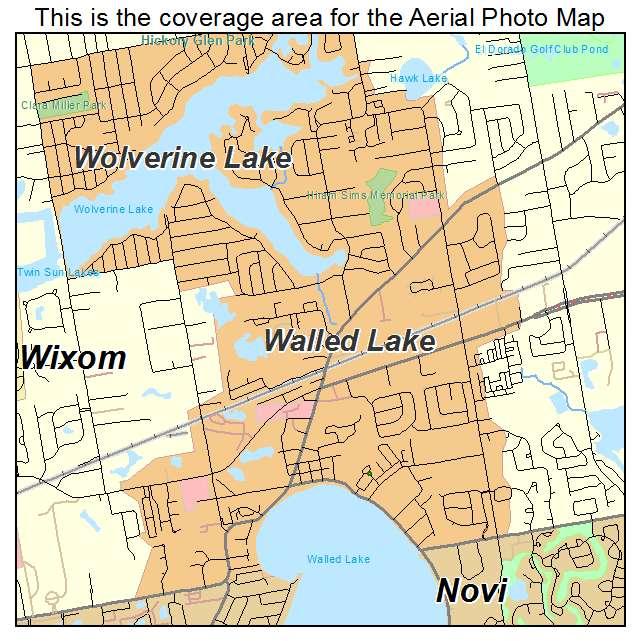 Walled Lake Michigan Map