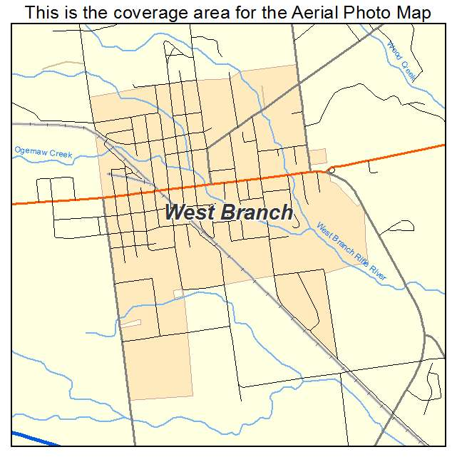Aerial Photography Map Of West Branch Mi Michigan