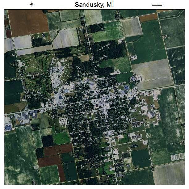 Aerial Photography Map Of Sandusky Mi Michigan
