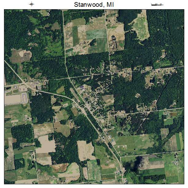 Stanwood Michigan Map.Aerial Photography Map Of Stanwood Mi Michigan