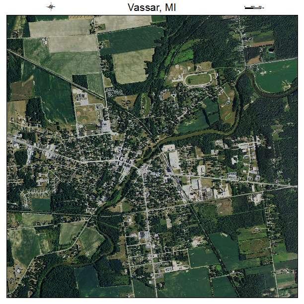 Aerial Photography Map Of Vassar Mi Michigan