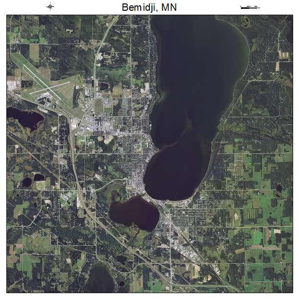 Bemidji Mn Minnesota Aerial Photography Map 2015