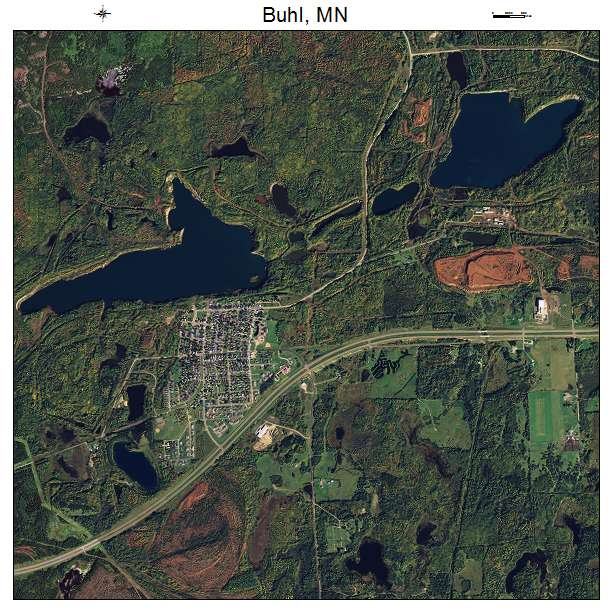 Buhl, MN air photo map