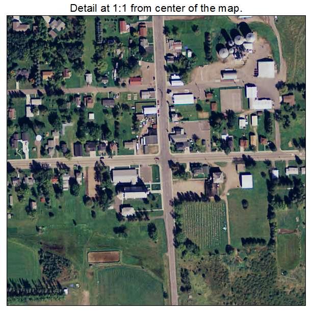 Buckman, Minnesota aerial imagery detail