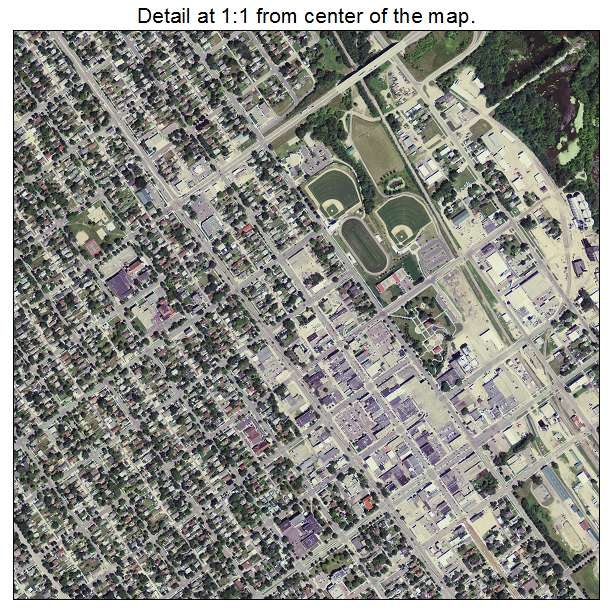Aerial Photography Map Of New Ulm MN Minnesota