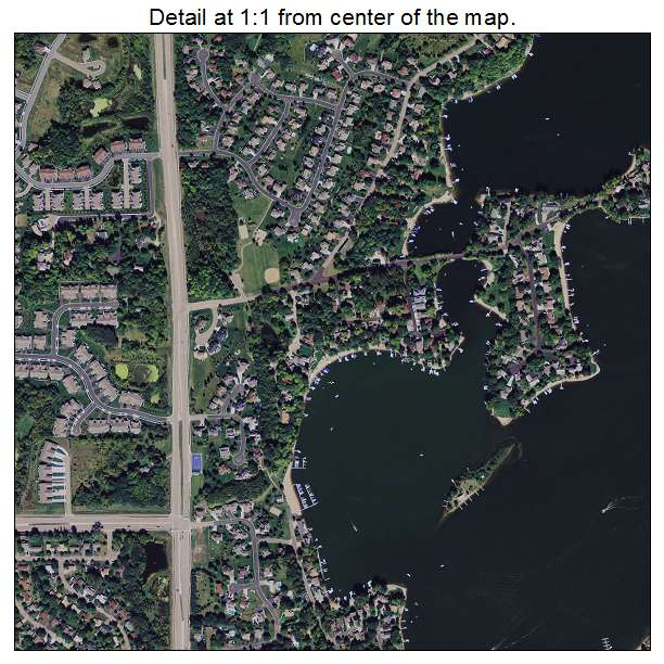 Aerial photography map of prior lake mn minnesota for T shirts and more prior lake mn