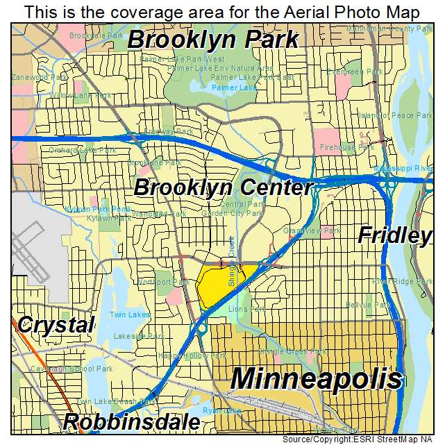 map of brooklyn center mn Aerial Photography Map Of Brooklyn Center Mn Minnesota map of brooklyn center mn