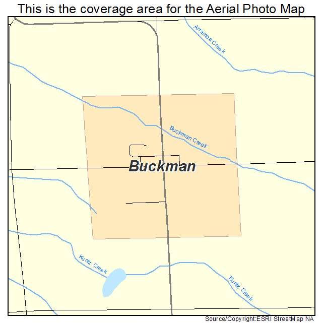 Buckman, MN location map