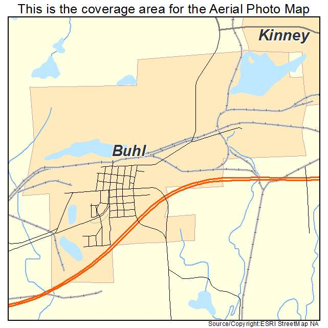 Buhl, MN location map