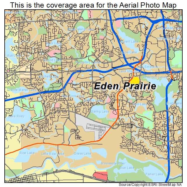 Aerial Photography Map of Eden Prairie MN Minnesota