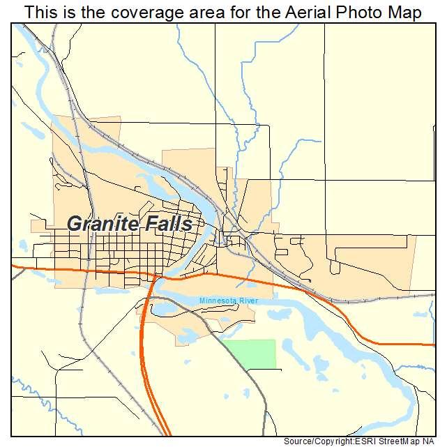 Aerial Photography Map Of Granite Falls Mn Minnesota