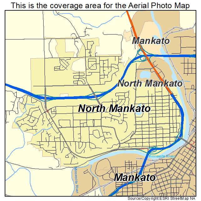Aerial Photography Map Of North Mankato MN Minnesota