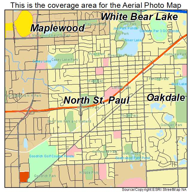 Aerial Photography Map Of North St Paul MN Minnesota