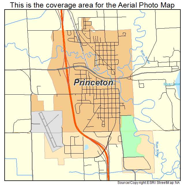 Princeton Minnesota Map.Aerial Photography Map Of Princeton Mn Minnesota