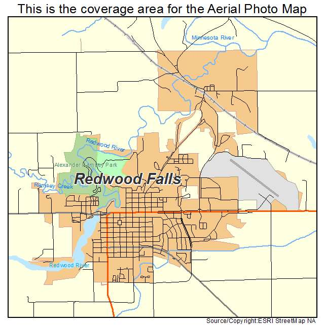 Redwood Falls, MN location map
