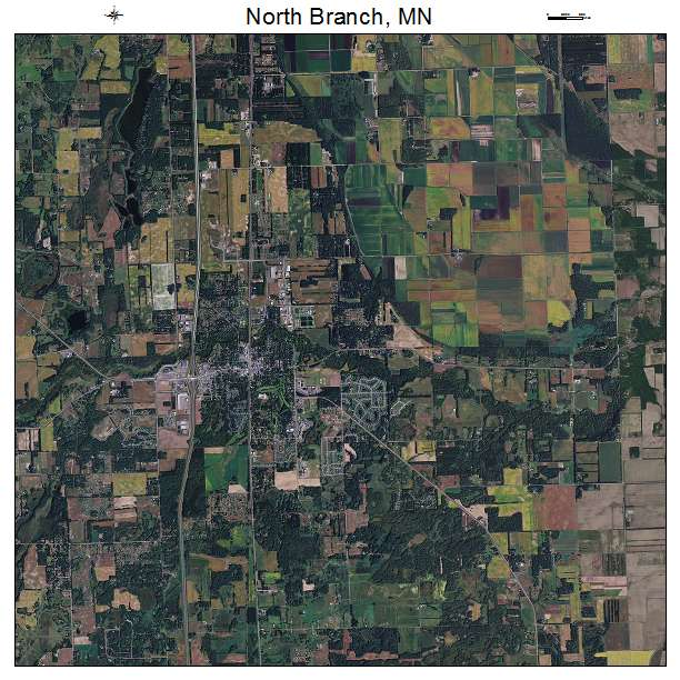 North Branch, MN Minnesota Aerial Photography Map