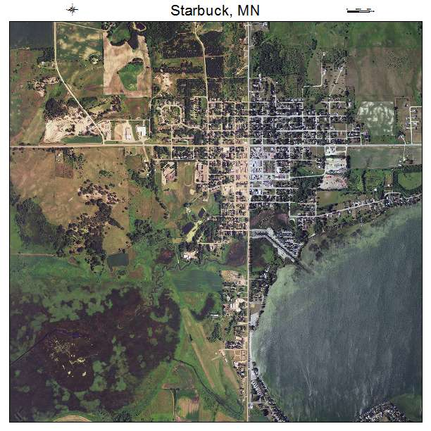 Aerial Photography Map Of Starbuck Mn Minnesota