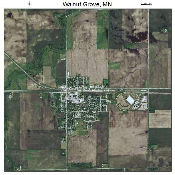 Aerial Photography Map Of Walnut Grove Mn Minnesota