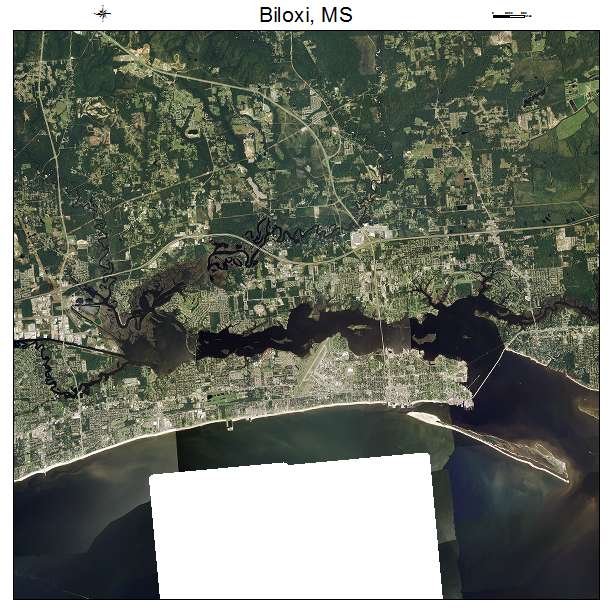 Biloxi, MS air photo map