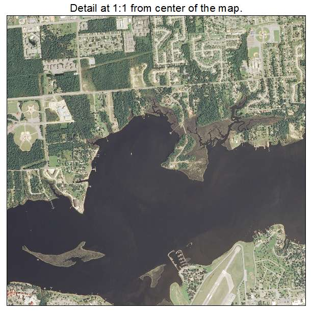 Biloxi, Mississippi aerial imagery detail