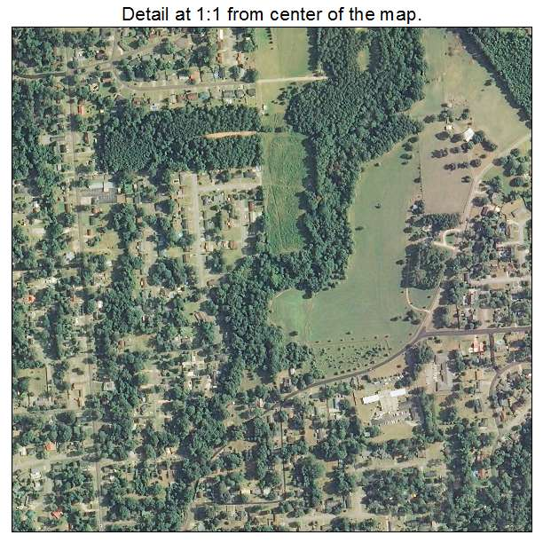 Aerial Photography Map Of Columbia MS Mississippi