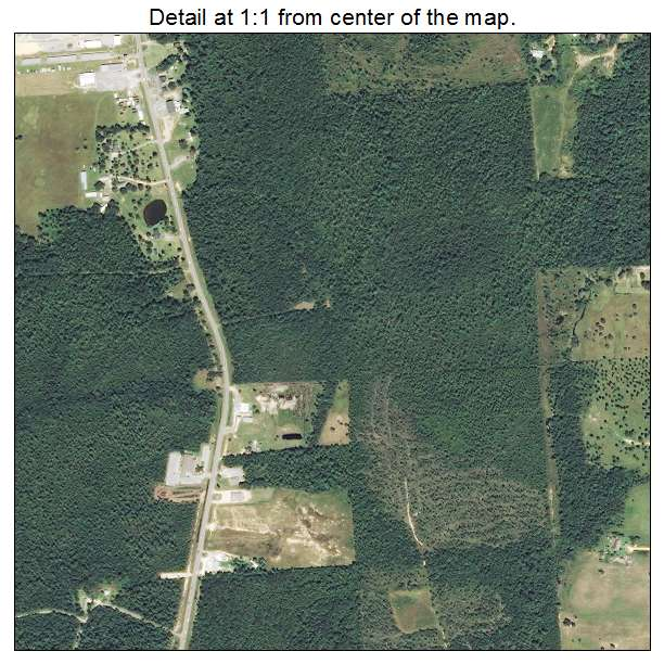 Aerial Photography Map Of Kiln MS Mississippi